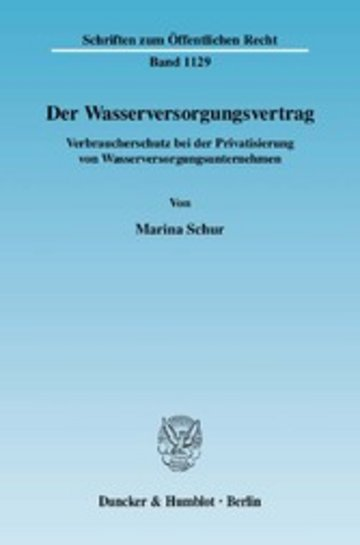 eBook Der Wasserversorgungsvertrag. Cover