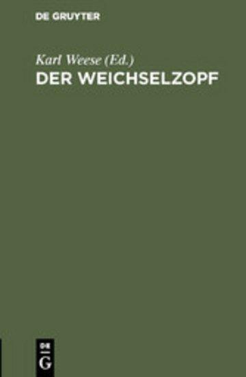 eBook Der Weichselzopf Cover