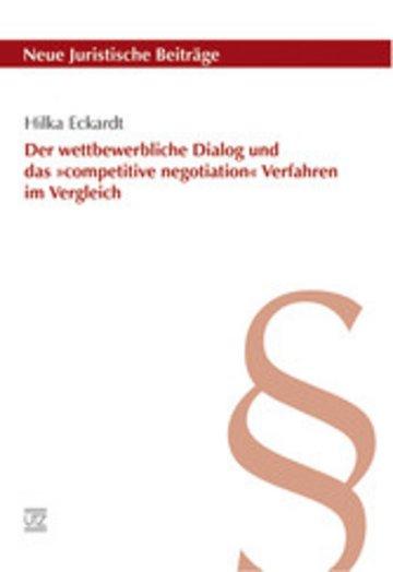 eBook Der wettbewerbliche Dialog und das »competitive negotiation« Verfahren im Vergleich Cover