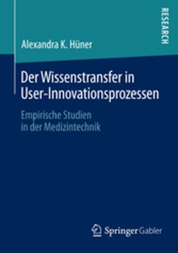 eBook Der Wissenstransfer in User-Innovationsprozessen Cover