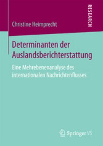 eBook Determinanten der Auslandsberichterstattung Cover