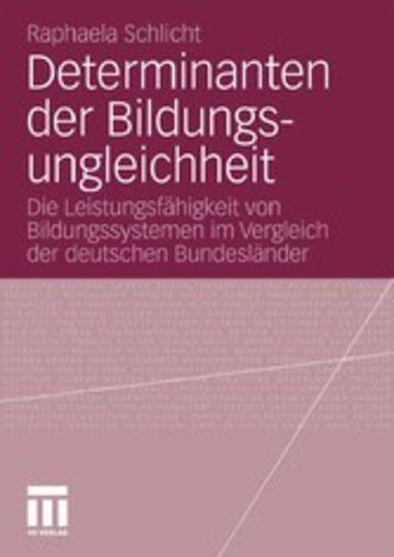 eBook Determinanten der Bildungsungleichheit Cover