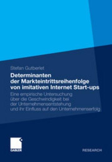 eBook Determinanten der Markteintrittsreihenfolge von imitativen Internet Start-ups Cover