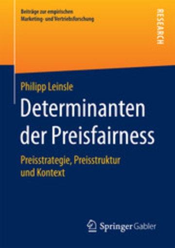 eBook Determinanten der Preisfairness Cover