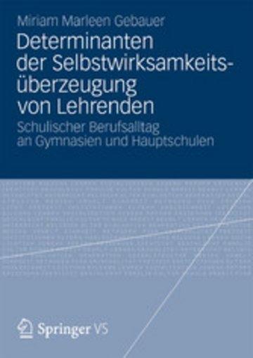 eBook Determinanten der Selbstwirksamkeitsüberzeugung von Lehrenden Cover