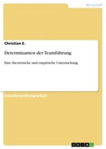 eBook Determinanten der Teamführung Cover