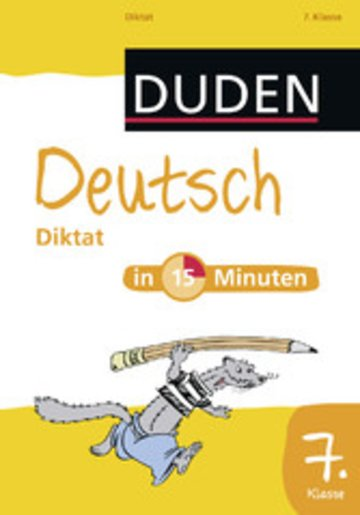 eBook Deutsch in 15 Minuten - Diktat 7. Klasse Cover