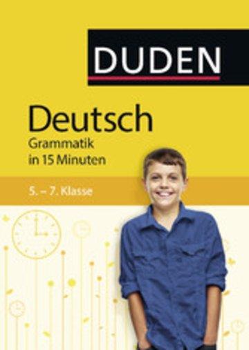eBook Deutsch in 15 Minuten - Grammatik 5.-7. Klasse Cover