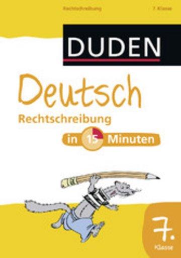 eBook Deutsch in 15 Minuten - Rechtschreibung 7. Klasse Cover
