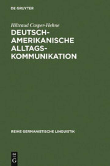eBook Deutsch-amerikanische Alltagskommunikation Cover