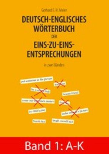 eBook Deutsch-englisches Wörterbuch der Eins-zu-eins-Entsprechungen in zwei Bänden Cover