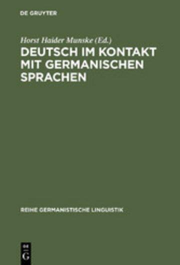 eBook Deutsch im Kontakt mit germanischen Sprachen Cover