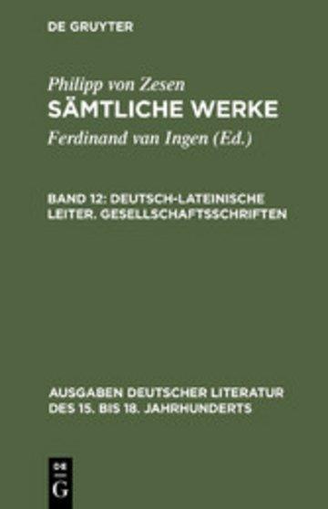 eBook Deutsch-lateinische Leiter. Gesellschaftsschriften Cover