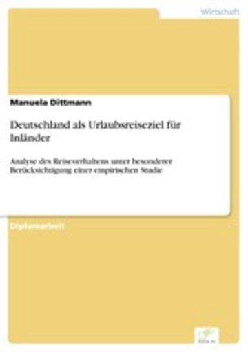 eBook Deutschland als Urlaubsreiseziel für Inländer Cover