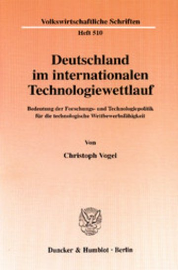 eBook Deutschland im internationalen Technologiewettlauf. Cover