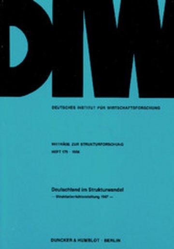eBook Deutschland im Strukturwandel. Cover