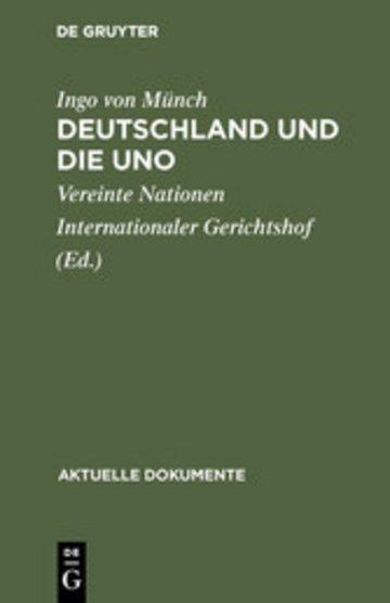 eBook Deutschland und die UNO Cover