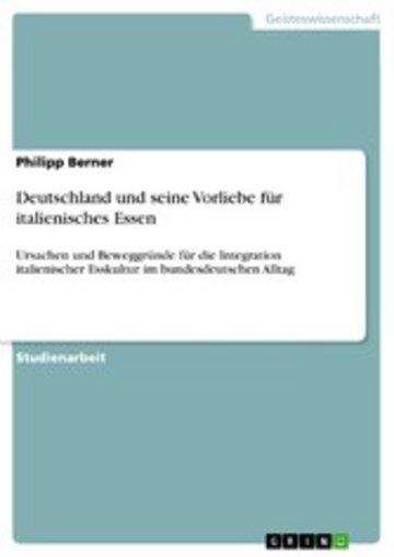 eBook Deutschland und seine Vorliebe für italienisches Essen Cover