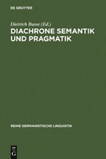 eBook Diachrone Semantik und Pragmatik Cover