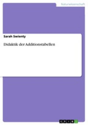 eBook Didaktik der Additionstabellen Cover