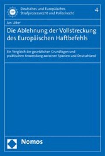 eBook Die Ablehnung der Vollstreckung des Europäischen Haftbefehls Cover
