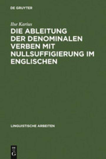 eBook Die Ableitung der denominalen Verben mit Nullsuffigierung im Englischen Cover