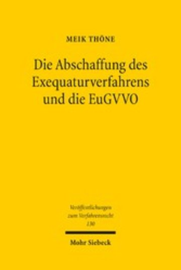 eBook Die Abschaffung des Exequaturverfahrens und die EuGVVO Cover