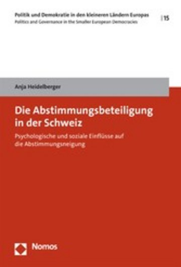 eBook Die Abstimmungsbeteiligung in der Schweiz Cover