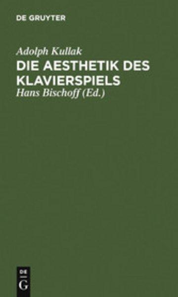 eBook Die Aesthetik des Klavierspiels Cover