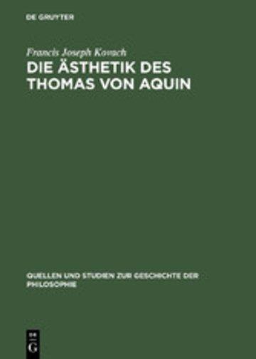 eBook Die Ästhetik des Thomas von Aquin Cover