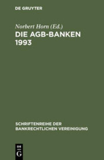 eBook Die AGB-Banken 1993 Cover