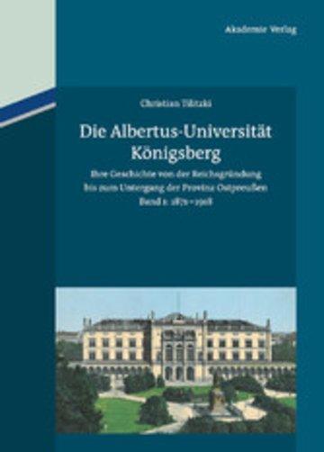 eBook Die Albertus-Universität Königsberg Cover