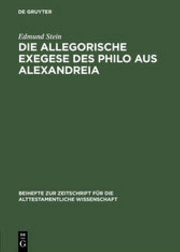 eBook Die allegorische Exegese des Philo aus Alexandreia Cover
