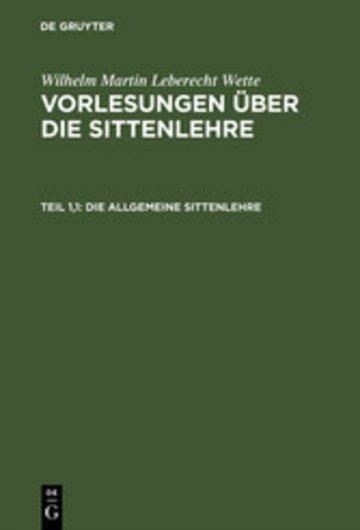 eBook Die allgemeine Sittenlehre Cover