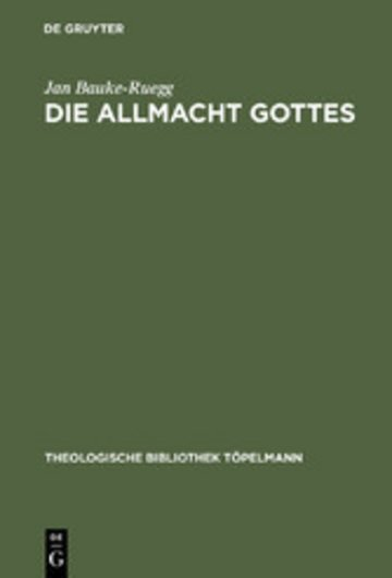 eBook Die Allmacht Gottes Cover