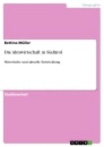 eBook Die Almwirtschaft in Südtirol Cover