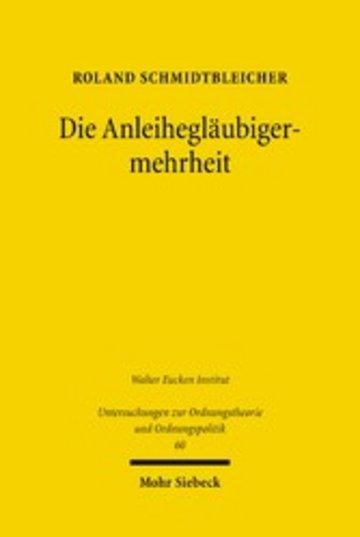 eBook Die Anleihegläubigermehrheit Cover