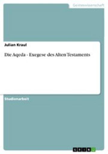 eBook Die Aqeda - Exegese des Alten Testaments Cover