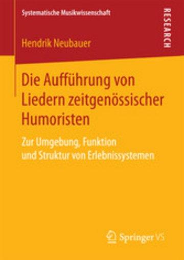 eBook Die Aufführung von Liedern zeitgenössischer Humoristen Cover
