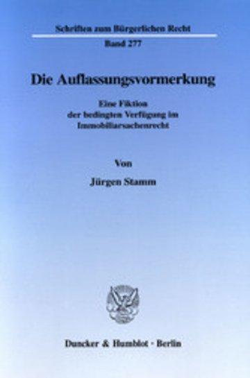 eBook Die Auflassungsvormerkung. Cover