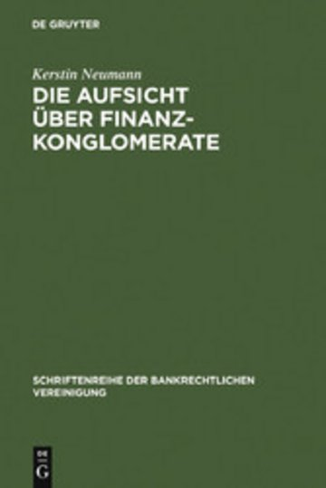 eBook Die Aufsicht über Finanzkonglomerate Cover