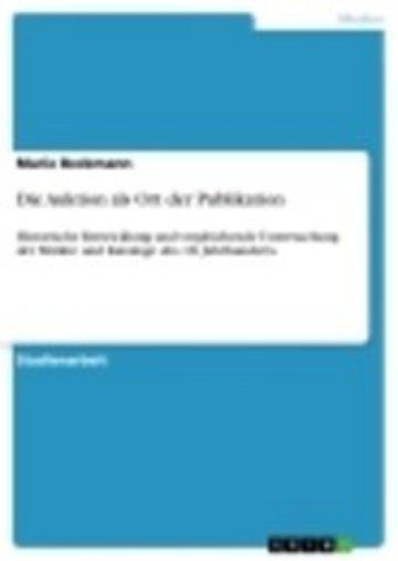 eBook Die Auktion als Ort der Publikation Cover