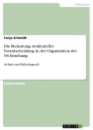 eBook Die Bedeutung struktureller Vorentscheidung in der Organisation der NS-Erziehung Cover