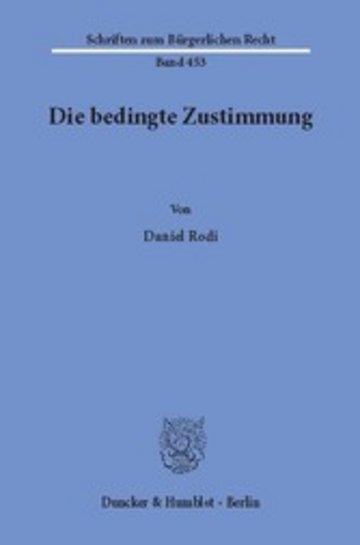 eBook Die bedingte Zustimmung. Cover