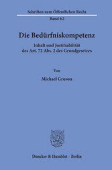 eBook Die Bedürfniskompetenz. Cover