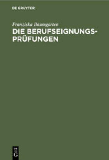 eBook Die Berufseignungs-Prüfungen Cover