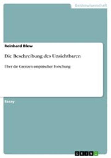 eBook Die Beschreibung des Unsichtbaren Cover