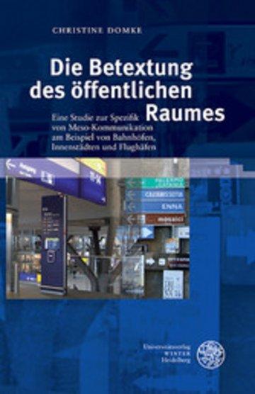 eBook Die Betextung des öffentlichen Raumes Cover