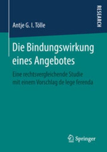 eBook Die Bindungswirkung eines Angebotes Cover
