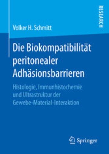 eBook Die Biokompatibilität peritonealer Adhäsionsbarrieren Cover